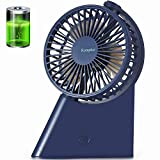 Komphot Desk Fan USB Table Fan Portable Mini Battery Operated Desktop Fan with Strong Airflow Quiet Compact Rechargeable Electric Cooling Fan for Office Home Outdoor Travel Fishing Camping 3 Speed