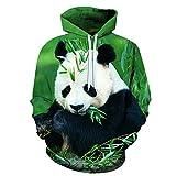 Sudadera con Capucha Hip Hop con Capucha Streetwear Animal Lindo Panda 3D Print Hombres Mujeres Harajuku Sudadera Moda Camisa Anime Hoodies