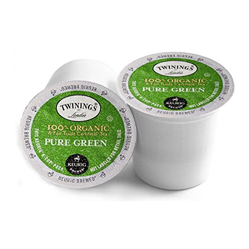 Twinings of London Organic and Fair Trade Certified Pure Green Tea K-Cups for Keurig, 12 Count