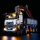 RTMX&kk Kit de Iluminación LED para (Camión Technic Mercedes-Benz Arocs 3245), Compatible con Lego 42043 Modelo de Bloques de Construcción (NO Incluido en el Modelo)