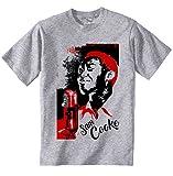 Photo de TEESQUARE1st Men's Sam Cooke Jazz Grey T-Shirt Size Medium