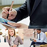 Mixoo Capacitive Stylus Pen, Disc & Fiber Tip 2 in 1 Series, High Sensitivity and Precision, Universal for ipad, iPhone, Tablets and Other Touch Screens, Model: Rose Gold