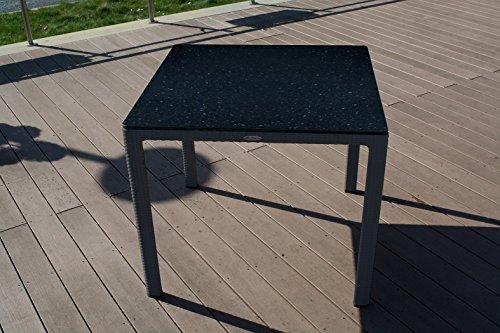 Esstisch 90x90cm Granit von Lechuza HPL-Tischplatte Gartentisch UV-beständig NEU