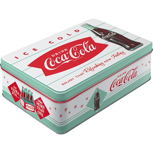 Rétro Boite rectangulaire métallique Coca-Cola
