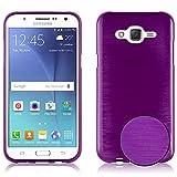 Cadorabo Funda para Samsung Galaxy J5 2015 en Lila - Cubierta Proteccíon de Silicona TPU Delgada e Flexible con Antichoque - Gel Case Cover Carcasa Ligera