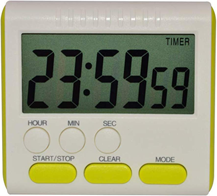 XGao Magnetic Large LCD Digital Kitchen Timer Alarm Clock Countdown 24 Hours Small And Convenient