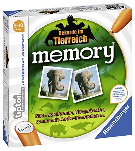 Ravensburger tiptoi Rekorde im Tierreich memory, ab 5 Jahren, Neue Spielformen, Tiergeräusche, spannende Audioinformationen