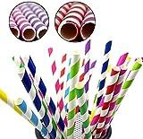 ROYALS Paper Straw, 100pc, Multicolor