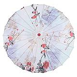 Agatige Parasol Chino de 33,9 Pulgadas, Paraguas de Papel engrasado para Decoraciones de Danza clásica