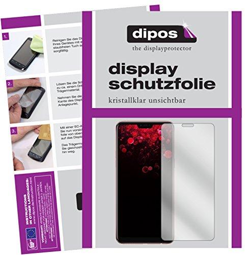 dipos I 2X Schutzfolie klar kompatibel mit Oppo F7 Folie Bildschirmschutzfolie