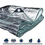 FSBYB Impermeable Lona Transparente Lona de Efecto Invernadero Multiusos Lona Transparente, Resistente al Agua Pesada Lona,3m*5m
