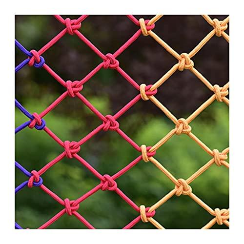 OSHA HJWMM Red De Seguridad para Niños, Red Seguridad Barandilla, Balcón Escaleras Jardín Red De Protección, Puente Colgante Techo Cuerda De Cáñamo Decorativa (Color : Colorful, Size : 3mx3m)