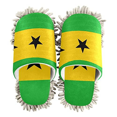Zapatillas de limpieza unisex con bandera de Santo Tomé y Príncipe