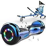 MARKBOARD Hoverboards, Accesorio para Karts, LED Luces y Altavoces Bluetooth, Scooter autoequilibrado con Hoverkart de 6.5 Pulgadas, Regalo para niños y Adultos