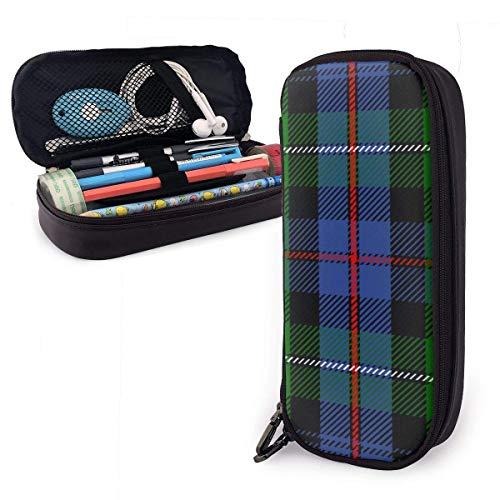 Mackenzie Tartan Leder Bleistiftetui Tasche mit Reißverschluss Stift Box Schulbedarf Großraum Schreibwaren Box