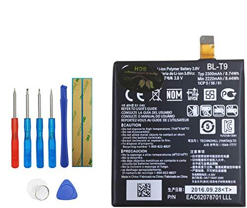 Upplus BL-T9 Batería de repuesto compatible con LG Google Nexus 5 LG D820 D821 con kit de herramientas 3,8 V, 2300 mAh