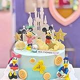 Juego de 6 minifiguras decorativas para tartas, para niños, para fiestas de cumpleaños, fiestas, suministros