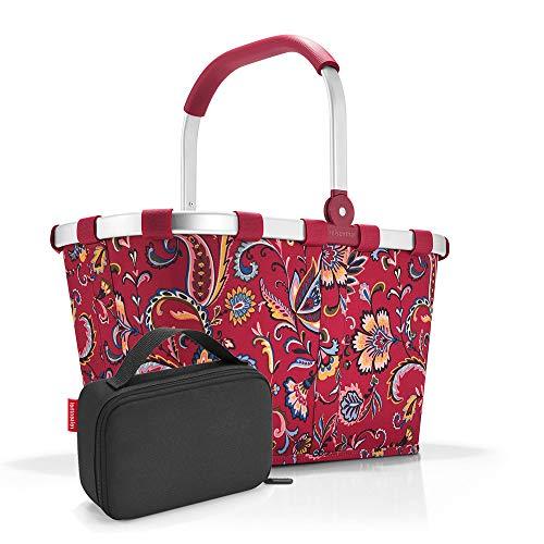 Set carrybag BK, thermocase OY SBKOY, boodschappenmand met kleine koeltas, Paisley Ruby + Black (rood) - SBKOY
