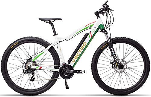 TYT Bicicleta de Montaña Eléctrica Bicicleta Eléctrica de 29 Pulgadas, Bicicleta de Montaña, Batería de Litio Oculta, Asistente de Pedal de 5 Niveles, Horquilla de Suspensión Bloqueable (Estándar Bla