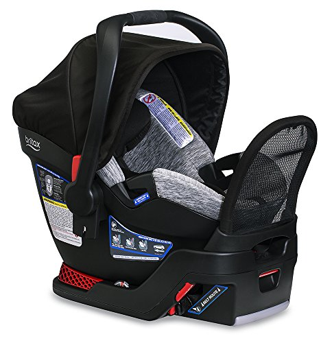 BRITAX B-Safe Endeavours Infant Car Seat - Rear Facing | 4 to 35 Pounds - Reclinable Base, 3 Layer Impact Protection, Spark