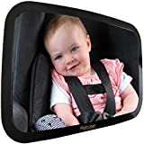 Baby Car Mirror for Rear Facing Baby Car Seat | Largest, Most Stable Mirror with Crystal Clear View | Popular Item for Newborn, Infant Baby Boy, Baby Girl, Baby Registry and Baby Shower Gifts