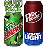 Beersy Can Cover Silicone Sleeve Hide a Beer to Look Like Soda, Fits 12 oz, Novelty Alcohol Disguise for Outdoor Events (MTN/Dr 2 Pack)