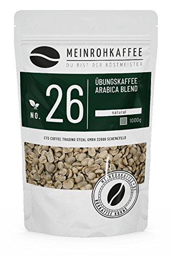 Rohkaffee - Übungskaffee Arabica Blend (100% Arabica) zum Proberösten und Rösten auf Euren Heimröster - 1000g
