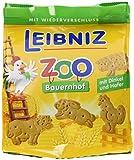 Leibniz ZOO Bauernhof, 4er Pack — Mini-Kekse 'Tiere' — Kinderkekse mit Dinkel und Hafer —  Keks zum Spielen — Kinderkekse in der Vorrats-Box (4 x 125 g)