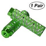 Helaryfreemear - Pedales de aleación de aluminio antideslizantes para BMX (2 unidades), verde, 2