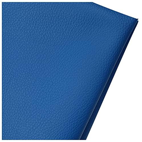 Tessuto in similpelle trapuntata in pelle sintetica per interni del veicolo, tessuto in similpelle blu per fiocchi e orecchini in pelle, accessori in pelle (dimensioni: 1,6 × 1 m, colore: blu)