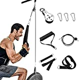 Riiai 2.0M/6.5Ft Cable Pulley, Tricep Pulley System for Arm Strength Training,2.0Meter DIY Pulley Cable Attachment, Cable Pulley System, Gym Pulley, Home Gym Pulley Equipment Workout (2.0M)