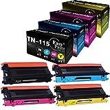 (4-Pack, BK+C+M+Y) Compatible TN115 TN-115 Toner Cartridge Work for Brother HL-4040CN 4050CDN 4070CDW MFC-9440CN 9450CDN 9840CDW DCP-9040CN 9045CDN Printer, by EasyPrint