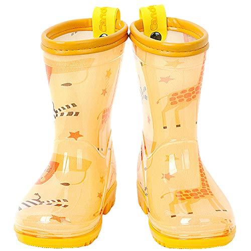 Candy-Baby Kids Boys Girls PVC Rain Boots/Rain Boots for Children (190mm (US Kids 12.5~13), Jungle)