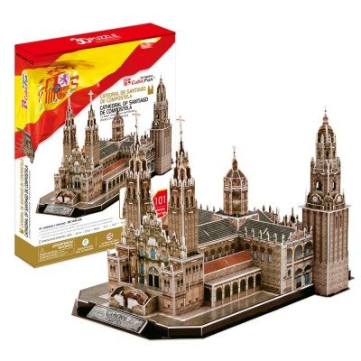 CM-3D Catedral DE Santiago DE Compos Puzzles 3D, Multicolor (156729)