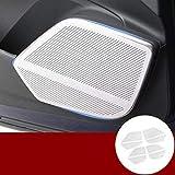 Nogo Car Interior Speaker Frame for car Doors Suitable for Audi Q5 2017-2020 4 Pieces Car Decoration