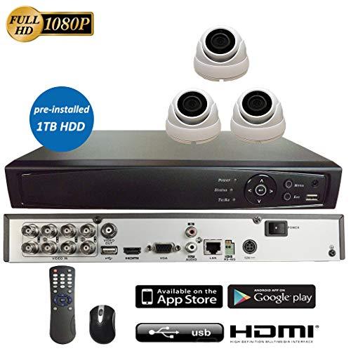 Best Prices! 8CH 5in1 (IP, TVI, AHD, CVI, Analog CVBS) Surveillance DVR + 2MP 1080P 2.8mm Lens Dome ...