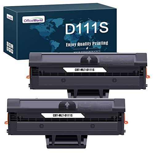 OfficeWorld Ersatz für Samsung MLT-D111S MLT-D111L Toner Patronen für Samsung Xpress M2026W M2070W SL-M2026W SL-M2070W SL-M2070FW M2022 M2020W SL-M2026 SL-M2070 M2022W M2026 M2070 M2020 (2 Schwarz)