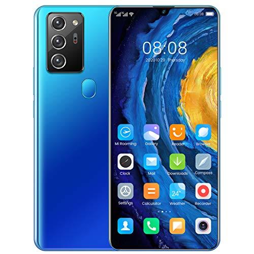 PNAYK Note80Pro Smartphone ohne Vertrag Android 10, 4G 7,1 Zoll Bildschirm, 4GB RAM+64GB ROM, 5600mAh Akku, 16MP+32MP Kamera, WLAN, Fingerabdruck, Face ID, Dual SIM Handy - Deutsche Version,Blau