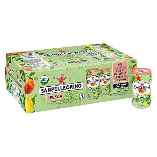 Sanpellegrino Pesca &Te Sparkling Organic Juice & Tea Beverage Blend 8.45 Fl. Oz. (24 Pack)