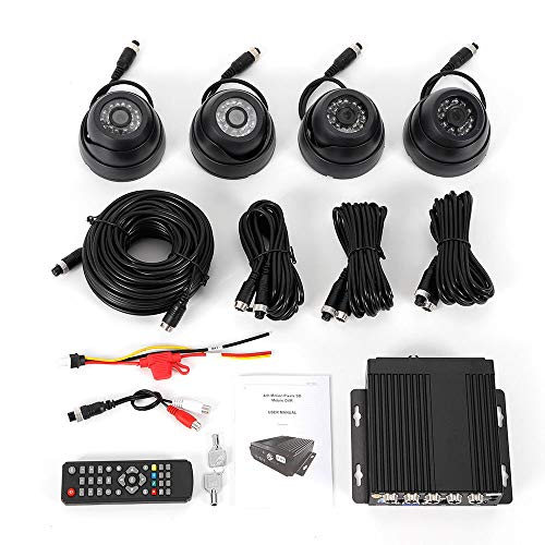 Best Deals! BoTaiDaHong 4CH Channel Car Mobile Video Recorder DVR+Camera 4 CCD+Cable+Remote Controll...