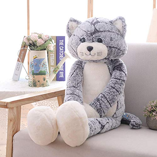 JMKHY Soft Long Leg Cat Plush Toy Animal Stuffed Toy Baby Cute Cats Appease Doll Kids Sleeping Toys Pillow Birthday Xmas-90cm_V