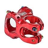 AKDSteel 31.8 Stem Wake Mountain Bike Stem CNC Short manillar de aleación de aluminio MTB Mountain Bike piezas para ciclismo, bicicleta de carretera, MTB, BMX, Fixie Gear 559 rojo 31.8 mm* 28.6mm