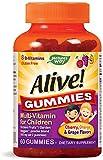 Nature's Way Alive! Children's Gummy Multivitamin, Fruit and Veggie Blend (100mg per serving), Gluten Free, made with Pectin, 60 Gummies