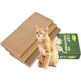 Cat Scratcher Cardboard,Reversible,Durable Recyclable Cardboard Grind Claws and Play/… 4 Packs in 1 Cat Scratch Pad Premium Scratch Suitable for Cats to Rest
