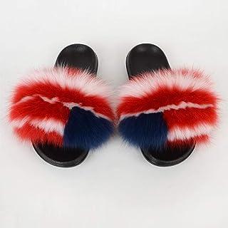N/W Zapatos para niñas, Pantuflas de Felpa, Chanclas para el hogar Zapatillas antideslizantes-111 Colors_44-45