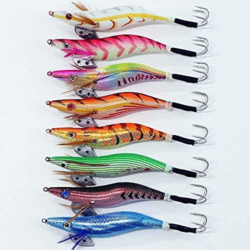 釣り具 タコエギ 3.5号 8本セット A20takoegi35h8C エギング 仕掛け 蛸 タコ釣り エギ