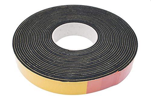 Moosgummi EPDM Dichtung 5 mm (Höhe) x 40 mm (Breite) mm schwarz Dichtband Schalldämmung Türdichtung Gummidichtung Dämpfung Fugenband selbstklebend 10 Meter