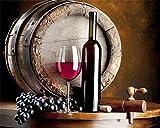 Decoración de pared para vino, frutas, bar, restaurante, cocina, pósteres e impresiones de pared, lienzo de caligrafía, sin marco. (Color: 2, tamaño: 50 x 40 cm, sin marco)