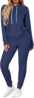Fixmatti Women Casual Sweatsuit Long Sleeve Hoodie Shirt Sport Sweatpants Tracksuit