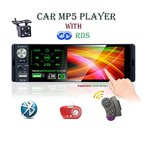 LSLYA Car Radio 1 DIN MP5 4.1 Player Inch Touchscreen for car, Support Bluetooth with Handsfree FM / Am / RDS AUX TF USB Remote Control